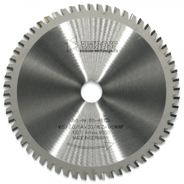 HM Multifunktionsblatt - Ø 165 mm x 2 mm x 20/16 mm | WWF (60 Zähne)