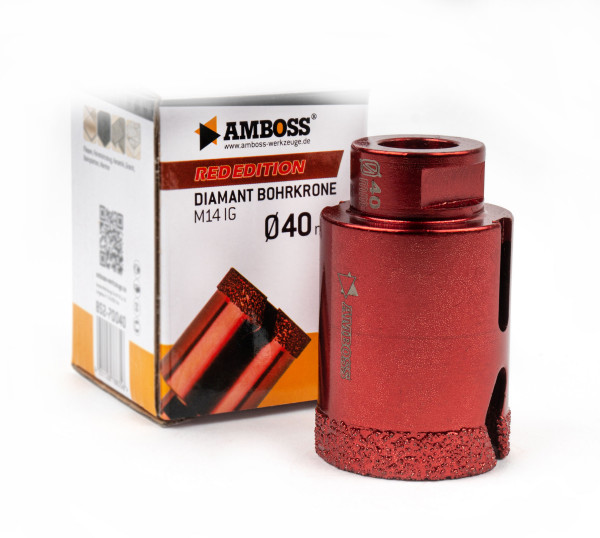 Amboss Red Edition Bohrkrone 40 mm