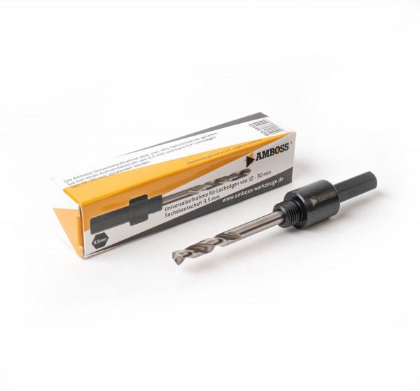 Aufnahme 6kant Schaft 14-30mm Ø11mm inkl. HSS Zentrierbohrer