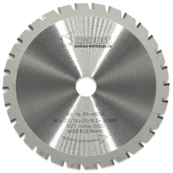 HM Multifunktionsblatt - Ø 160 mm x 2 mm x 20/16 mm | WWF (30 Zähne)