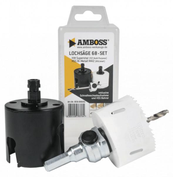 Amboss HM+BiMetall Lochsäge 68 mm (inkl. Schnellwechselaufnahme)