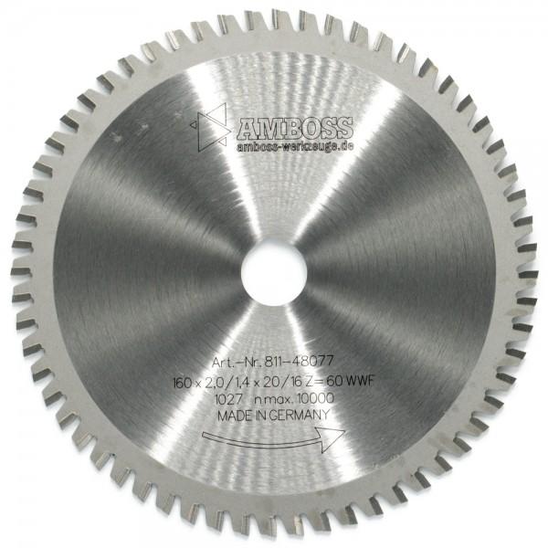 HM Multifunktionsblatt - Ø 160 mm x 2 mm x 20/16 mm | WWF (60 Zähne)
