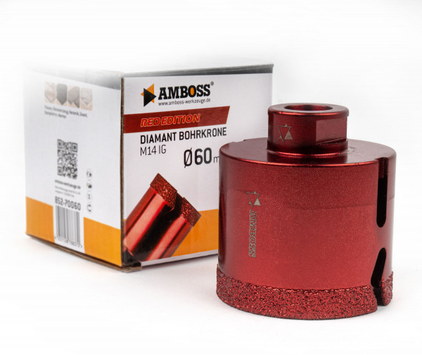 Amboss Red Edition Bohrkrone 60 mm