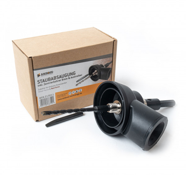 Saugrotor mit Zentrierbohrer 8 mm x 175 mm & Auswurfstift