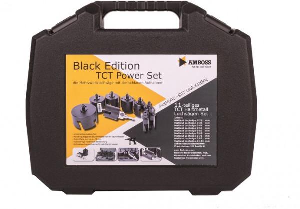 Amboss HM Lochsägen Set Black Edition TCT-Power Set 11tlg. Ø22 bis 114 mm