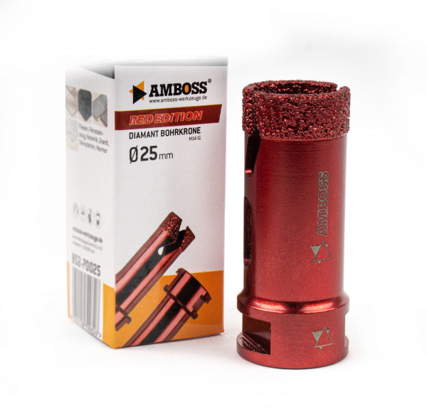 Amboss Red Edition Bohrkrone 25 mm