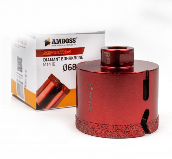 Amboss Red Edition Bohrkrone 68 mm
