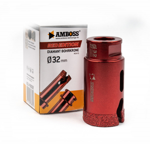 Amboss Red Edition Bohrkrone 32 mm