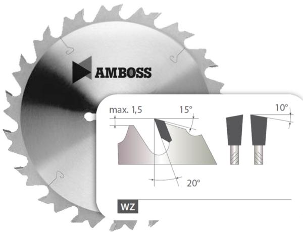 HM Kreissägeblatt - 250 mm x 3.2 mm x 30 mm | Z=24 LWZ
